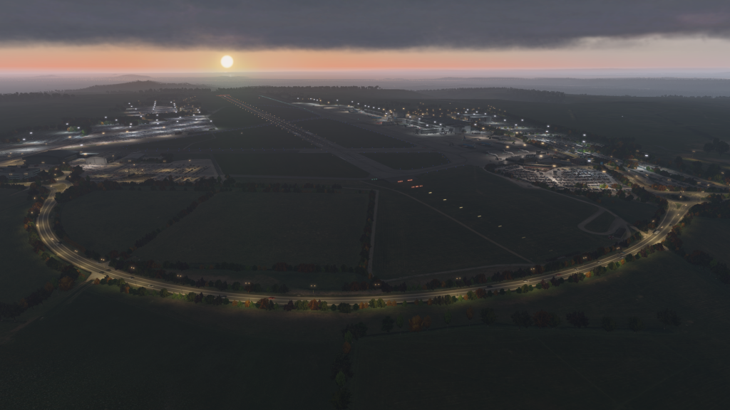 Bristol Airport Night Lighting